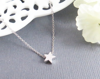 Tiny Star Pendant Necklace, Gift For Her, Gift For Girls, Gift for Best Friend, Cute Necklace, Tiny Necklace, Valentines Gift