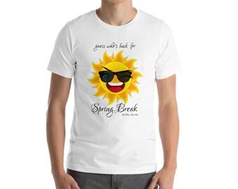 Spring Break Shirt guess hwos back lil miss sunshine