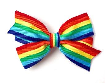 Rainbow hair bow - rainbow bow, hair bows, toddler bow, girls hair bows, girls bows, rainbow hair bows, baby bows, hair bows for girls, bows