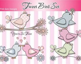 Digital (Digi stamps) Tweet Bird Set