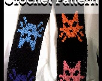 Kitty Scarf Crochet Pattern