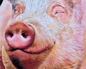 Pig Print - Mounted