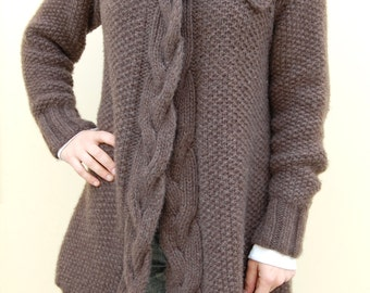 Seed Stitch Cable Coat #845
