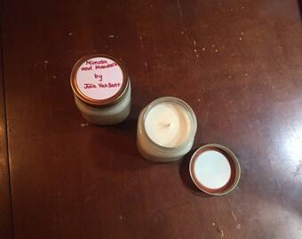 Mimosa and Mandarin candle in mason jar