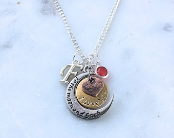 Personalized Love You to the Moon Necklace