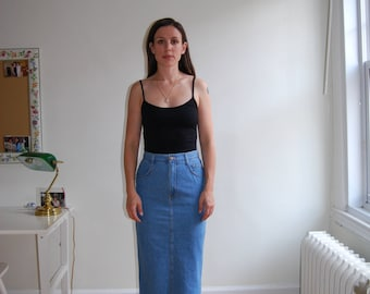 vintage 90's high waisted denim skirt