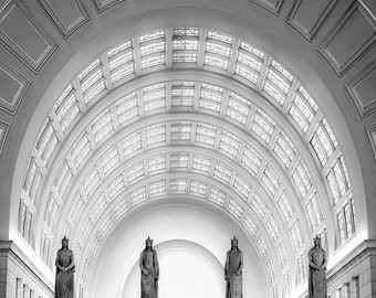 Union Station, Washington DC Wall Art, Black and White Photography, Office Decor