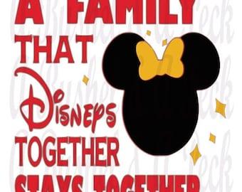 MInnie y Mickey A familia eso Disneys juntas permanece juntos paquete