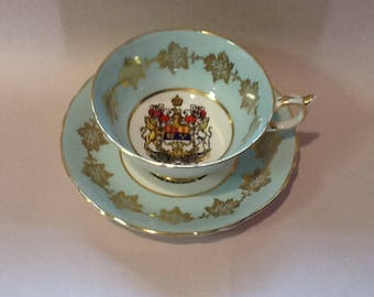 Paragon Tea Cup and Saucer Her Majesty the Queen Canada Souvenir