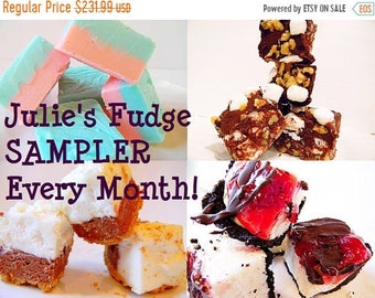 MEGA SALE Julie's Fudge SAMPLER of the Month - One pound, four flavors - You Choose - 8 Months of Yumminess