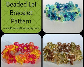 Beaded Lei Bracelet Pattern / Tutorial
