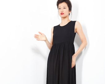 Long Maxi Dress, Long Black Dress, New Years Eve Dress, Sleeveless Dress, Evening Dress, Black Dress, Elegant Dress, Designer Dress, Gift