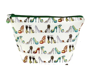 Makeup Bag | Zipper Pouch | Toiletry Bag | Makeup Pouch | Travel Case | Gifts for Her |  | Gifts under 20 | High Heels | Shoes | Heels