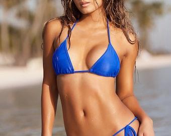 Royal Blue Scrunch Butt Bikini
