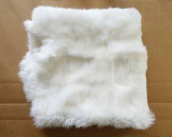 Real Rabbit Fur Pelt