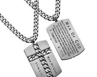 "Chain Cross ""Man Of God"""