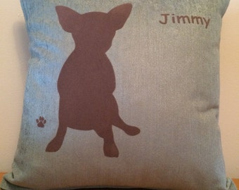 Personalised Teacup Chihuahua Dog Cushion