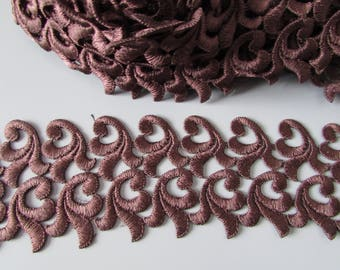 Brown Venise Lace sold by the metre