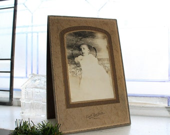 Antique Photograph Deceased Baby 9.25 x 6.25 Inches