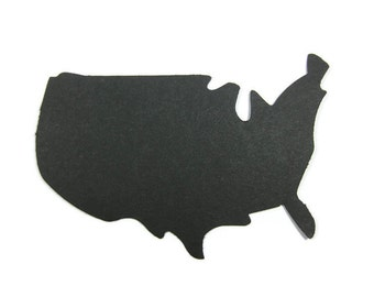Silhouette of The United States Large Paper Cut Out set of 20