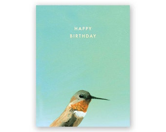 Hummingbird Birthday - Birds - Greeting - Stationery