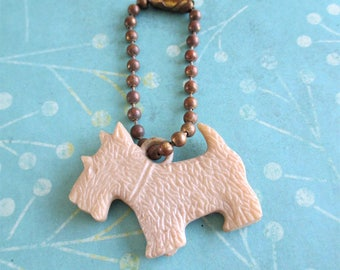 Little Vintage Terrier Charm Key Chain