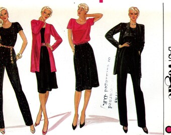 Vogue 8069 Very Easy Jacket Blouse Top Skirt and Pants Size 10 12 Uncut Vintage Sewing Pattern