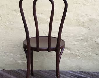 High Quality Vintage Thonet Bentwood Bistro Cafe Chair Ice Cream Parlor Chair With  Original Label Antique French Cafe