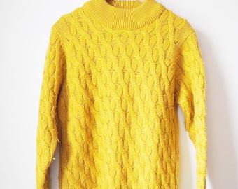 Vintage mustard sweater/crewneck-90's