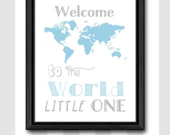 World map newborn baby decor girl welcome to the world baby newborn baby boy gift travel theme world map baby nursery art welcome to the gumiabroncs Image collections