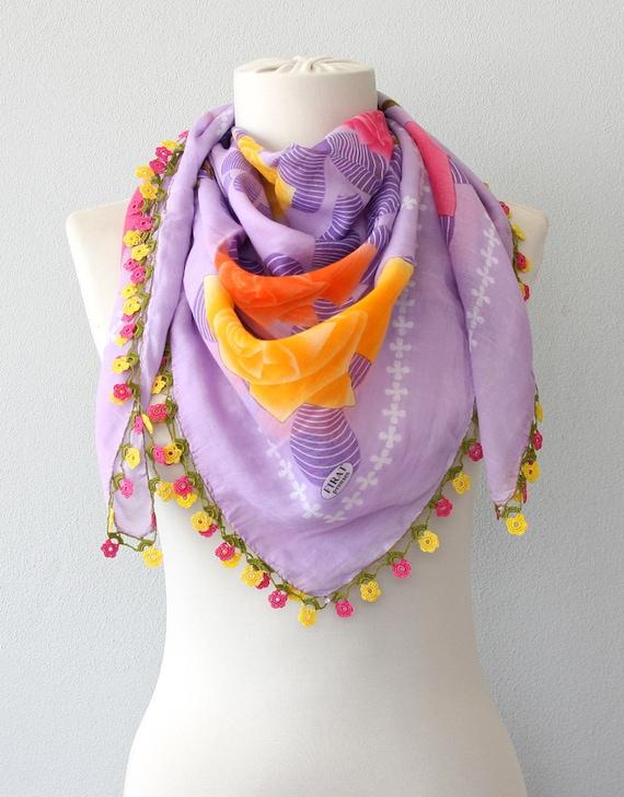 Türkische häkeln Spitze Schal Baumwolle jemenitischen Schal