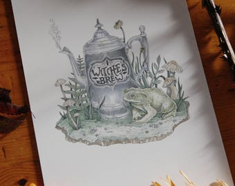 Witches Brew Illustration ~ Giclee Print