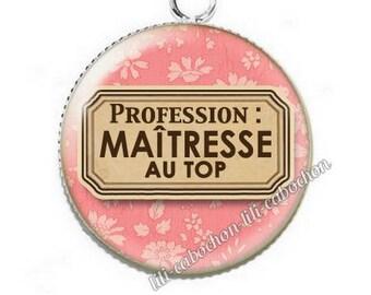 Pendant cabochon resin profession: teacher p53