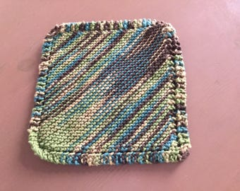 MOP 100% wool cotton knitted dishcloth, lavette dishes, resistant, reusable, eco-friendly