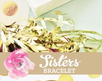 Sister Gifts for Sister Bracelet Sorority Sisters Gift Sister Jewelry Gift Friends Forever Sisters at Heart (EB3144WC) Monogram Bracelet
