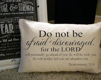 Scripture Pillow, Ranch Decor Pillow, Canvas Pillow, Country Pillow, Farmhouse Chic, Rustic Pillow, Pillows with Words, Throw Pillow
