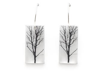 Small Tree Earrings
