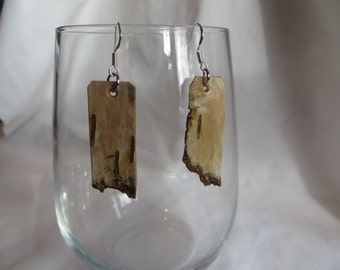 Variety of Birch Bark Earrings, Earrings, Birch Bark