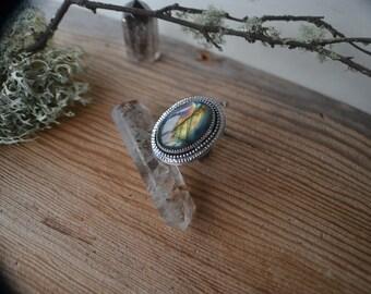Flashy Labradorite ring size 5.25