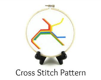 BART Map Bay Area Rapid Transit Lines Cross Stitch Pattern