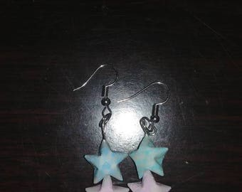 Hanging Origami Lucky Star Earrings