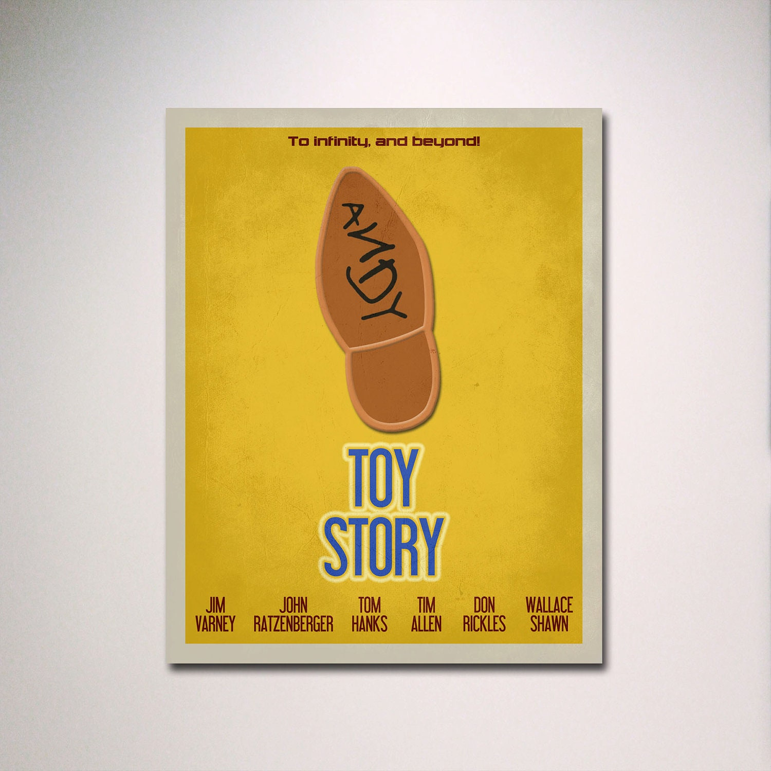 Toy Story Inspired Minimalist Movie Poster / Kids Room Poster