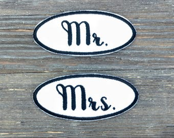 Mr and Mrs Patch Wedding Patch Custom Wedding Patch