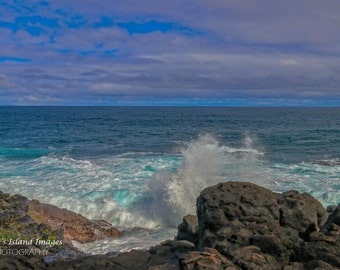 Shoreline at Queen's Bath, Kauai Hawaii
