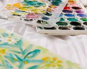 Painting Class at Blossom Baby 2/17/2018