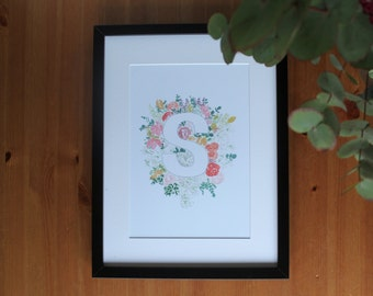 Floral Alphabet Letters, Floral Wall Decor, Master Bedroom, Floral Nursery Wall Art