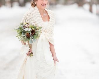 Wedding cover ups scarves etsy wedding shawlbridal capewinter weddingbridal shawlwedding shrugivory shawlrustic weddingivory wrapbridal cover upivory wrapshrug junglespirit Gallery
