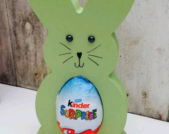 Personilsed Easter Egg Bunny Kinder Egg Holder