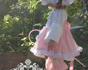 Little Bo Peep Costume, Little Bo Peep Costume Boutique, Little Bo Peep Inspired Costume  Boutique Apron Dress & Lace Pantaloons Pageant