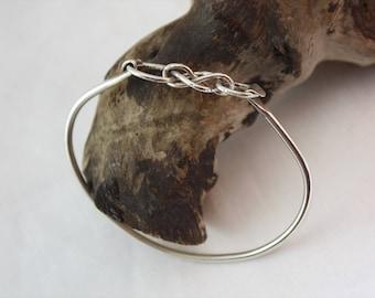 Silver Cuff Bracelet / Silver Bracelet / Infinity Bracelet / Women's Jewelry